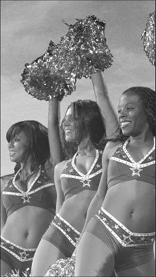 Interior Ch 1 - cheerleaders 5 urban snapshots BW cropped resized
